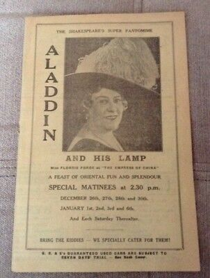 LIVERPOOL SHAKESPEARE THEATRE 1939 programme ALADDIN AND HIS LAMP