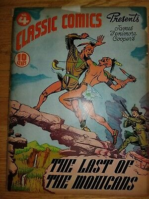 Classics Illustrated #4 The Last of the Mohicans - First Edition 1942