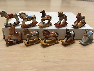 Series Complete 10 Feves Chevaux Vintage  2018