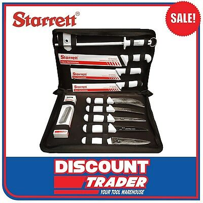 Starrett Professional Butchers Knife Set In Case 11 Piece *SALE* BKK-11W