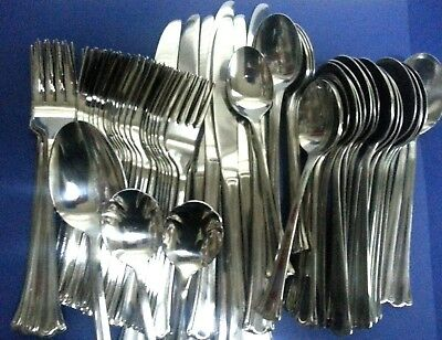 77 pc Oneida Northland VOLTAIRE Mixed Lot Spoons Forks Knives Stainless Flatware