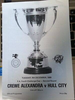 1988/9 Crewe Alexandra V Hull City (Fa Youth Cup 2Nd Round)