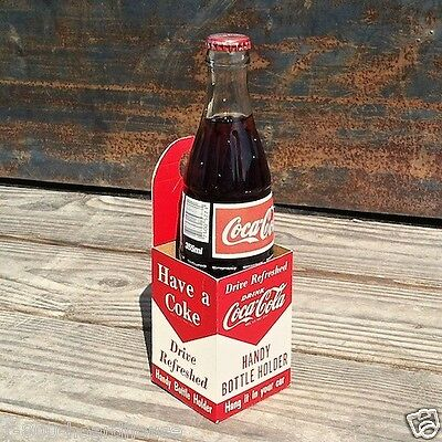 Vintage Original COCA-COLA SODA Automobile Car Carrier COKE Carton 1950s Unused