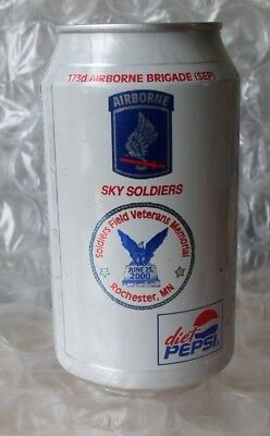 173rd Airborne Brigade  Sky Soldiers Diet Pepsi 12 oz. Can (empty)