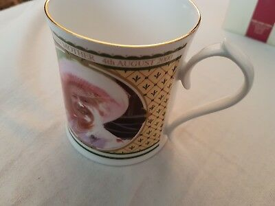 2000 Aynsley China Queen Mother 100th Birthday Portrait Mug Limited Ed: 5000