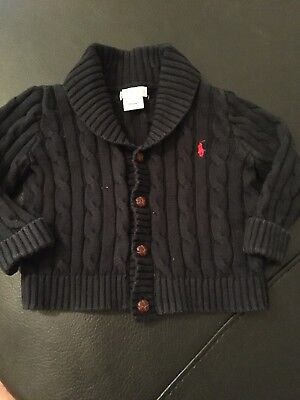 Baby Boy Ralph Lauren Navy 9 Month Old Cardigan