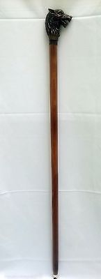 Vintage cane. walking stick lion-head antique rare original beautiful gift bid 2