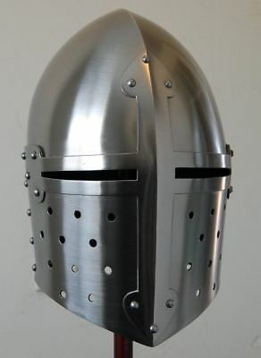 Medieval Suger loaf Armour-Helmet Roman knight helmets-with Inner Liner bid t2