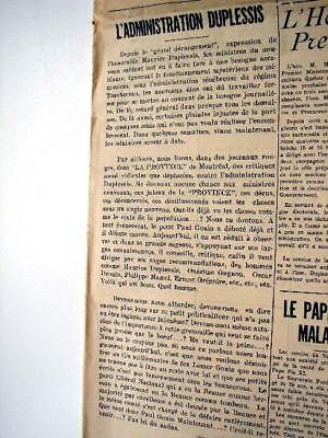 1936 Maurice Duplessis Union Nationale Article Vvv