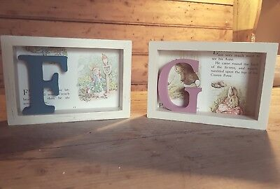 Small Personalised Beatrix Potter Peter Rabbit 3D Picture Letter Baby Boy Girl