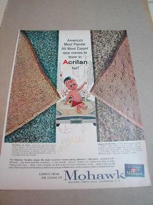 1950's Indian For Mohawk Rugs Ad F99 11X8.5