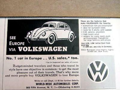 1950's Volkswagen Lady Bug Ad F995.5X3