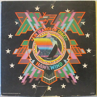 HAWKWIND In Search of Space LP Gimmick Cover w/ Log (SIGNED by Dave Brock) USA x