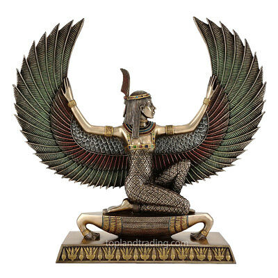 "Maat - Egyptian Goddess of Truth & Justice (Cold Cast Bronze) 13.5""H Statue"