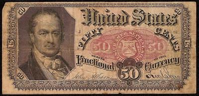 50 Cent Fractional Currency Series 1875 United States Crawford Note Paper Money
