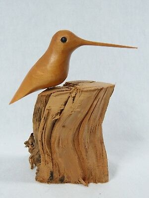 Hummingbird Hand Carved Wood on natural Wood