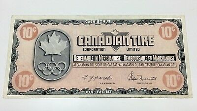 1976 Canadian Tire 10 Ten Cents CTC-S5-C Circulated Olympic Money Banknote E059