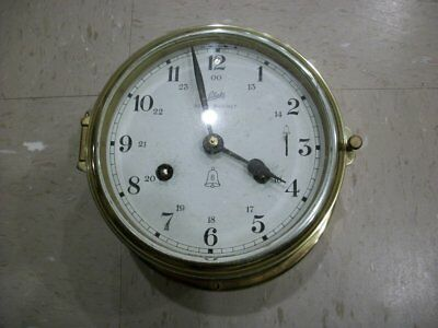 Vintage West German Schatz Royal Mariner Ships 8 Bell Clock