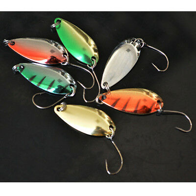 5Pcs 30mm Metal 3g Spinner Spoon Fishing Lures Tackle Pack Crankbaits for Bass