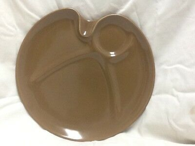 Hard to find mid-century russel wright Iroquois party plate in nutmeg