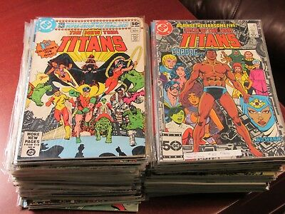 Lot of 100 Different the New Teen Titans #1-102 George Perez Marv Wolfman Comic
