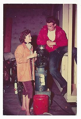 "REBEL WITHOUT A CAUSE-Natalie Wood & James Dean-4"" x 6""  Post Card USA-1955-#404"
