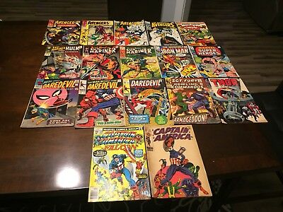 Huge Marvel Silver Bronze Lot Of 17 Comics No Reserve