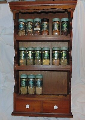 Vintage McCormick Spice Rack 3 Tier with 2 Drawers 3 Plus 15 Spices