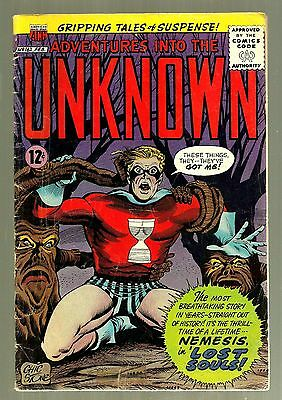 1965 ACG- Adventures into the Unknown-#162- Nemesis in Lost Souls--12 Cents-VG+