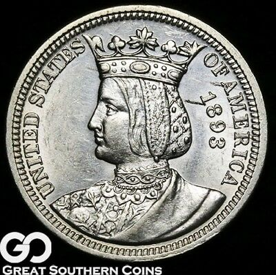 1893 Isabella Commemorative Quarter, Avidly Pursued Better Date * Free Shipping!