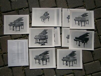 Steinway & Sons Piano Art Case Catalog Cards Prices Photos Aeolian Duo Art 1920S