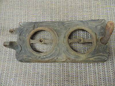 Ornate Vintage Cast Iron Stove Door Vent Steampunk Industrial Decoration