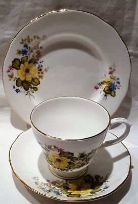 Vintage A T Finney Duchess Bone China Rhona Pattern Trio 1961-62 Made in England