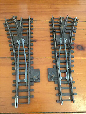 Tri-ang R491 and R492 Left Hang & Right Hand Point Track Pieces