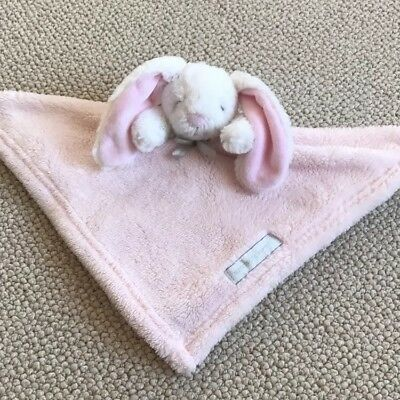 Blankets & Beyond Security Blanket Bunny White Pink Baby Lovey NuNu Soft