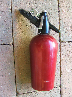 VINTAGE SODA SYPHON, SPARKLETS LTD Made in England, Red.