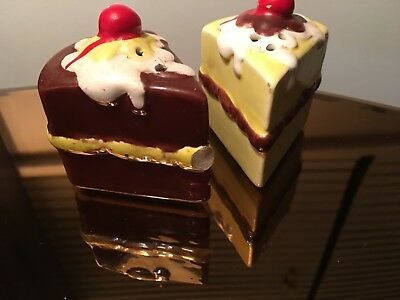 Vintage Salt And Pepper Shakers, Pieces Of Cake.