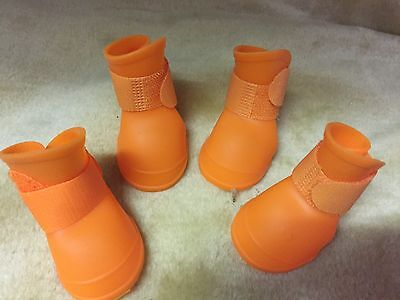 Dog & Puppy Boots - Small Waterproof Wellies Protective Rubber Pet Shoes - UK