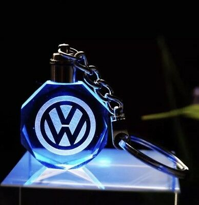 Volkswagen Golf GTI Polo Car Keyring Crystal LED Light Gift Pouch Keychains XMAS