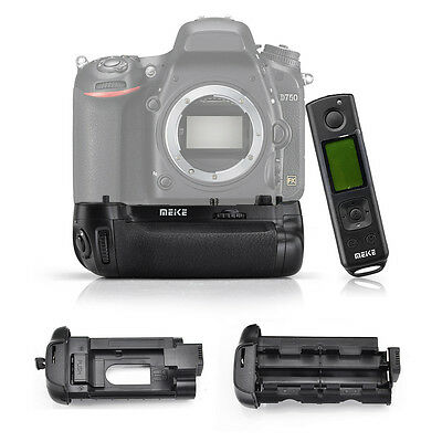 Meike MK-DR750 Battery Grip W/ Remote Controller for Nikon D750 MB-D16 DSLR Cam