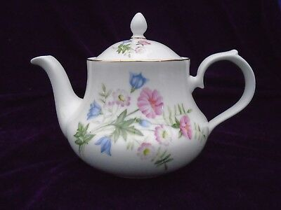 Vintage Royal Vale Wild Flowers 2 Pint Bone China Tea Pot