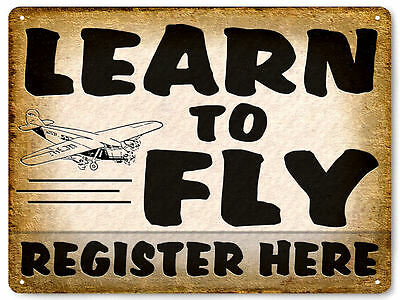 AIRPLANE metal SIGN model FLYING lessons great gift VINTAGE style decor art 543