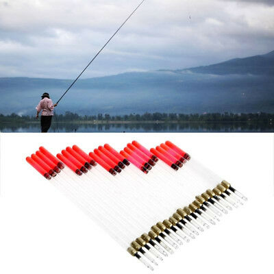 20Pcs Clear Waggler Fishing Floats Floating Tubes Stem Kits Tackle Convenient