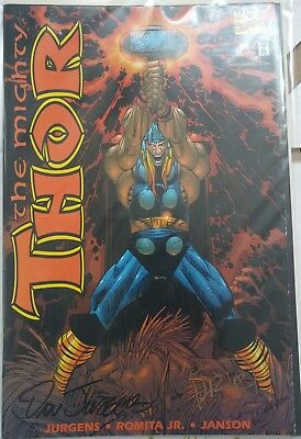 Marvel The Mighty Thor 1 Signed by John Romita Jr