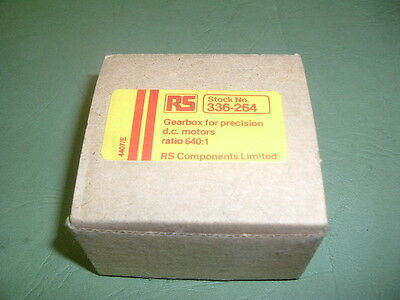 Trident Engineering Gearbox Ovoid 640:1 Ratio Rg1 / 8.0640...rs336264..new Pack