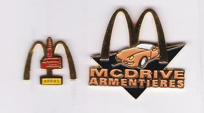 lot de 2 mac donald's (mcdo) pin  ARRAS + ARMENTIERES