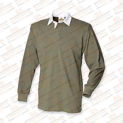 Royal Marines Globe & Laurel Embroidered L/S Rugby Shirt
