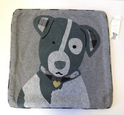 Henry & Friends Dog Embroidered Cushion Cover Home Soft Furnishings Decor