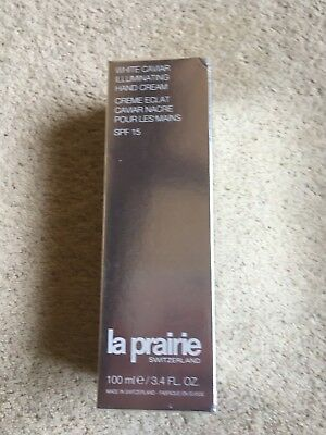 La Prairie White Caviar Illuminating Hand Cream SPF 15, 100ml New