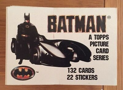 Batman 1989 Movie - Complete 132 Card Topps Set - RARE - COLLECTABLE - Joker